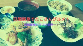 日間賀島 たこグルメ